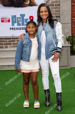 Stock Photo of Christina Milian and daughter Violet Madison Nash