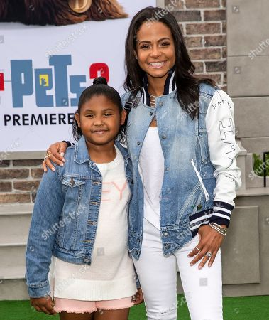 Stock Picture of Christina Milian and daughter Violet Madison Nash
