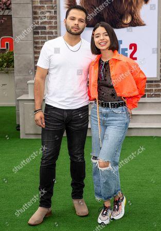 Leonardo Aguilar (L) and Angela Aguilar