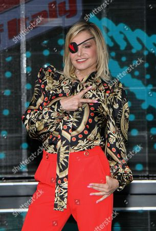 Simona Ventura at the final of the talent show 'The Voice of Italy' broadcast on RaiDue