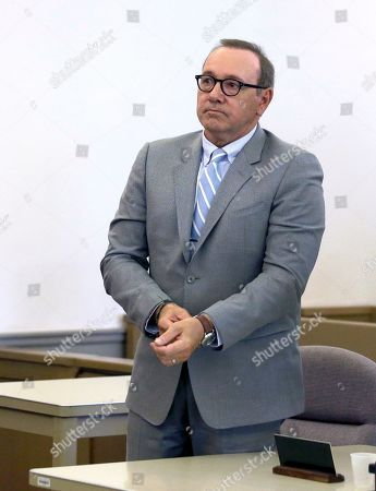 Actor Kevin Spacey attends a pretrial hearing, at district court in Nantucket, Mass. The Oscar-winning actor is accused of groping the teenage son of a former Boston TV anchor in 2016 in the crowded bar at the Club Car in Nantucket