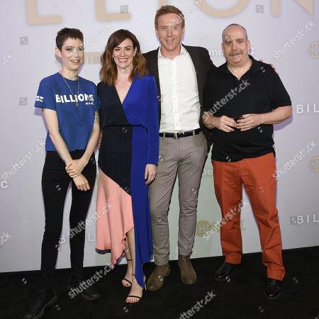 Stock Image of Asia Kate Dillon, Maggie Siff, Damian Lewis, Paul Giamatti