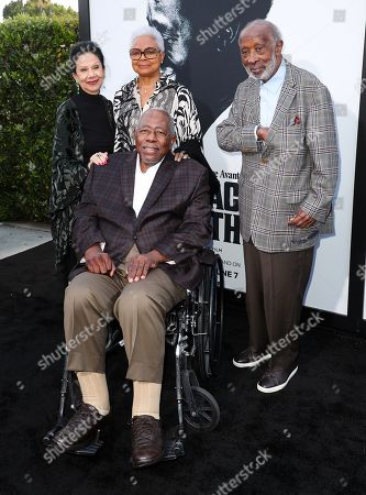 Jacqueline Avant, Billye Aaron, Clarence Avant and Hank Aaron