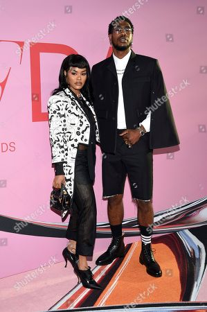 Jennifer Lopez, Iman Shumpert. Teyana Taylor and Iman Shumpert attend the CFDA Fashion Awards at the Brooklyn Museum, in New York