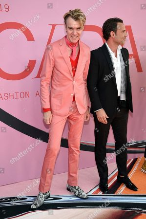 Ken Downing, Don Ghermezian. Ken Downing, left, and Don Ghermezian attend the CFDA Fashion Awards at the Brooklyn Museum, in New York