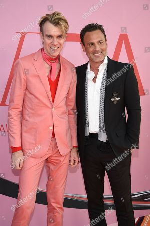 Stock Picture of Ken Downing, Don Ghermezian. Ken Downing, left, and Don Ghermezian attend the CFDA Fashion Awards at the Brooklyn Museum, in New York