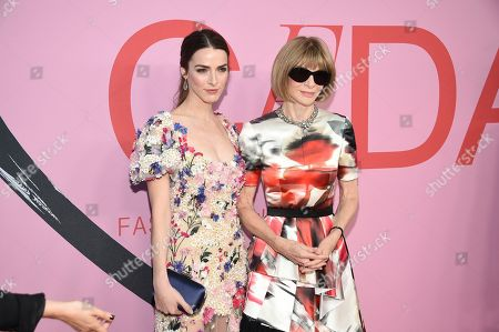 Anna Wintour, Bee Shaffer. Anna Wintour,left, and Bee Shaffer attend the CFDA Fashion Awards at the Brooklyn Museum, in New York
