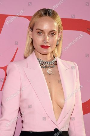 Amber Valetta attends the CFDA Fashion Awards at the Brooklyn Museum, in New York