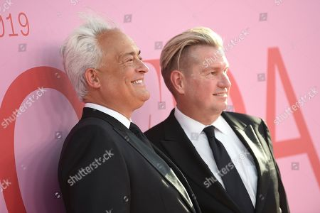 Mark Badgley, James Mischka. Mark Badgley, and James Mischka attend the CFDA Fashion Awards at the Brooklyn Museum, in New York