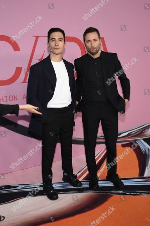 Jack McCollough and Lazaro Hernandez attend the CFDA Fashion Awards at the Brooklyn Museum, in New York