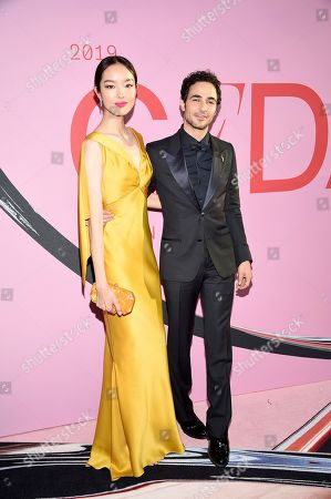 Stock Image of FeiFei Sun and Zac Posen attend the CFDA Fashion Awards at the Brooklyn Museum, in New York
