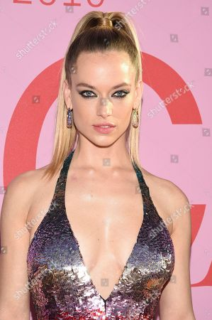 Hannah Ferguson attends the CFDA Fashion Awards at the Brooklyn Museum, in New York