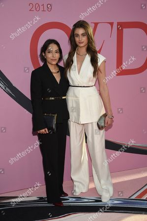 Stock Picture of Nellie Partow, Taylor Hill. Nellie Partow and Taylor Hill attend the CFDA Fashion Awards at the Brooklyn Museum, in New York