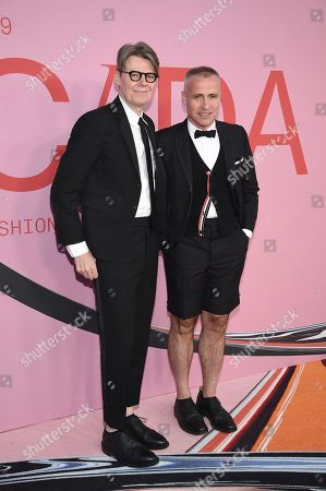 Andrew Bolton, Thom Browne. Andrew Bolton, left, and Thom Browne attend the CFDA Fashion Awards at the Brooklyn Museum, in New York