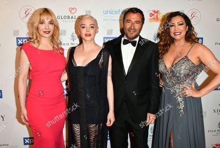 Alix Benezech, Rose McGowan, Bernard Montiel and Maria Bravo