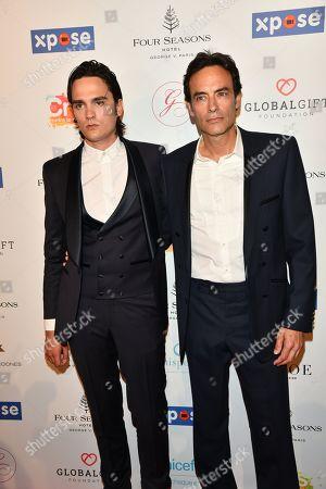 Alain Fabien Delon and Anthony Delon