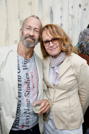 Stock Image of Kenny Scharf and Ann Philbin