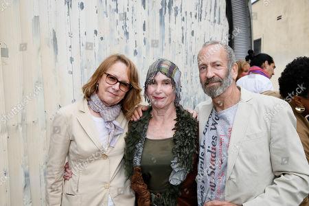 Ann Philbin, Elsa Longhauser and Kenny Scharf