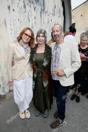 Ann Philbin, Elsa Longhauser and Kenny Scharf