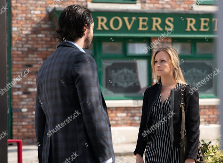 Ep 9796 Friday 14 June 2019 - 2nd Ep As Adam Barlow, as played by Sam Robertson, and Sarah Platt, as played by Tina O'Brien, row on the street about keeping their relationship under wraps, Gary Windass watches on but gets short shrift from Sarah when he goes to check on her.