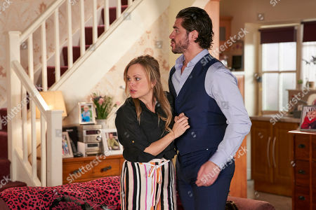 Ep 9793 Wednesday 12 June 2019 - 1st Ep Calling at No.8 Adam Barlow, as played by Sam Robertson, tells Sarah Platt, as played by Tina O'Brien, he's managed to persuade Nick to let her run the factory (he tells him sacking his workforce wouldn't look good in front of a jury he's trying to convince he didn't sabotage the roof). Sarah kisses him but as they head upstairs, they're horrified to hear the front door unlocking. Bethany gave Gary the keys to cook Sarah a surprise meal!