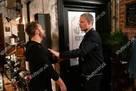 Ep 9791 Monday 10 June 2019 - 1st Ep Fuming to learn that David Platt, as played by Jack P Shepherd, has wheedled his way back in with the family, Nick Tilsley, as played by Ben Price, locks David in the barber's, aiming to prevent him from checking in with the police. As the boys fight will David get to the station in time?
