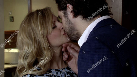 Ep 9797 Monday 17th June 2019 - 1st Ep Sarah Platt, as played by Tina O'Brien, and Adam Barlow, as played by Sam Robertson, put the 'do not disturb' sign on the door and head to bed.