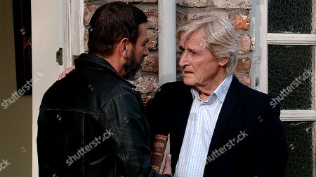 Ep 9786 Monday 3rd June 2019 - 2nd Ep Ken Barlow, as played by William Roache, Roy and Johnny see Peter Barlow, as played by Chris Gascoyne, off on his trip to Carlisle. When Simon Barlow announces he's coming with him, Peter's touched.