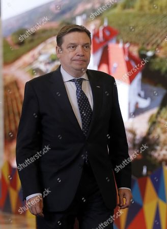 Luis Planas Puchades, Minister for Agriculture, Fisheries and Food of Spain arrives for an Informal Council of the Ministers of Agriculture and Fisheries held at Parliament Palace in Bucharest, Romania, 04 June 2019.