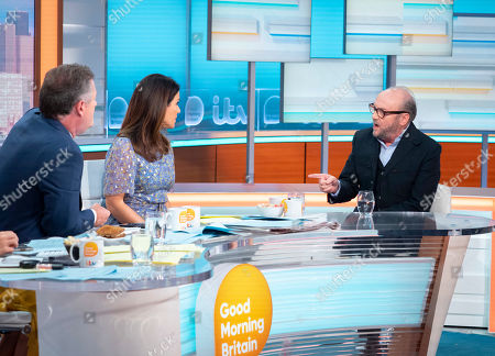 Piers Morgan and Susanna Reid with George Galloway