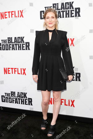 Stock Photo of Caitrin Rogers arrives for the world premiere of 'The Black Godfather' at the Paramount Theater in Hollywood, Los Angeles, California, USA, 03 June 2019. The movie opens globally 07 June 2019.
