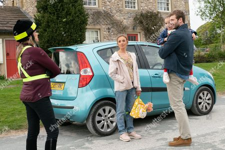Ep 8493 Monday 3rd June 2019 When Kim Tate's, as played by Claire King, out riding her horse on a country road, a car speeds past and causes the horse to bolt. Kim spots the driver of the car and lets rip at her. She is floored to learn that the driver is son Jamie Tate's, as played by Alexander Lincoln, secret wife, Andrea Tate, as played by Anna Nightingale, and young daughter, Millie Tate, as played by Willow Bell.
