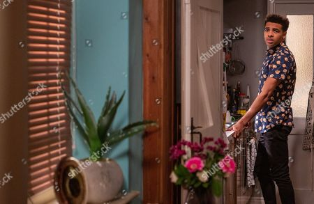 Ep 8504 Thursday 13th June 2019 - 1st Ep Aaron Dingle tells a thrown Billy what happened with Ellis the previous day and as a result calls Max to tell him to stay away from his family. With Ellis, as played by Asan N'Jie.