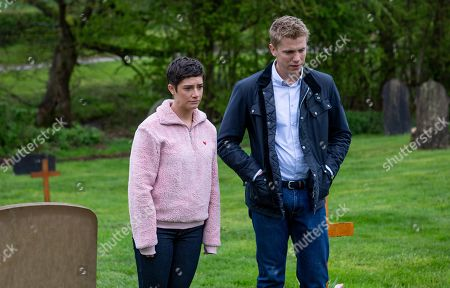 Ep 8509 Tuesday 18th June 2019 - 2nd Ep As Robert Sugden, as played by Ryan Hawley, and Victoria Barton, as played by Isabel Hodgins, visit Jack's grave - Robert reminds an emotional Victoria he's there for her - but will it work?