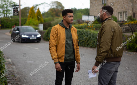 Ep 8507 Monday 17th June 2019 Billy, as played by Jay Kontzle, is alarmed Max is back. With Ellis Chapman, as played by Asan N'Jie.