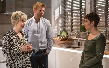 Ep 8494 Tuesday 4th June 2019 - 1st Ep The reality of Victoria Sugden's, as played by Isabel Hodgins, pregnancy hits an uneasy Robert Sugden, as played by Ryan Hawley, and Diane Sugden, as played by Elizabeth Estensen, as she begins to suffer from morning sickness. They are stunned when Victoria tells them she's not having a termination.