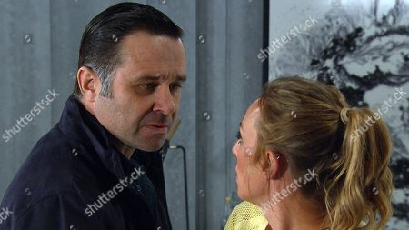 Ep 8501 Tuesday 11th June 2019 Graham Foster, as played by Andrew Scarborough, returns and grabs an anxious Andrea Tate, as played by Anna Nightingale, demanding to know what she is doing there, revealing that they in fact know one another, and have an as yet unclear history together.
