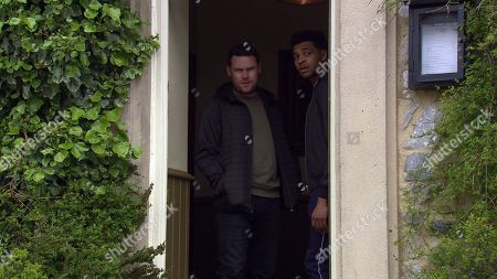 Ep 8502 Tuesday 11th June 2019 - 2nd Ep Ellis, as played by Asan N'Jie, has a panic attack when he spots someone who he thinks is Max. Aaron Dingle, as played by Danny Miller, finds him and tries to comfort him, but Ellis is terrified, and runs off.