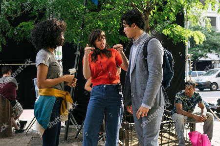 Yara Shahidi as Natasha Kingsley, Ry Russo-Young Director and Charles Melton as Daniel Jae Ho Bae