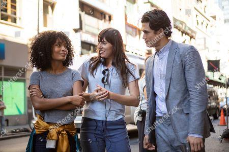 Stock Picture of Yara Shahidi as Natasha Kingsley, Ry Russo-Young Director and Charles Melton as Daniel Jae Ho Bae