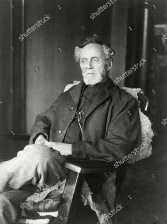 Stock Image of Andrew Still, (1828-1917), founder of osteopathy, a medical practice based on the belief that bone and joint disorders, and diseases could be cured by manipulative medicine. Ca. 1914.