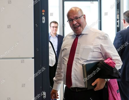 German Minister of Economy and Energy Peter Altmaier arrives for a faction meeting of the CDU and Christian Social Union (CSU) at the German parliament Bundestag in Berlin, Germany, 04 June 2019. The sister parties CDU and CSU gathered two days after Andrea Nahles, party chairwoman and faction leader of their Social Democratic coalition partner SPD, had announced her resignation from both positions.