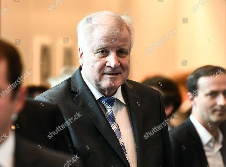 Minister of Interior, Construction and Homeland, Horst Seehofer arrives for a joint faction meeting of Christian Democratic Union (CDU) and Christian Social Union (CSU) at the German parliament Bundestag in Berlin, Germany, 04 June 2019. The sister parties CDU and CSU gathered two days after Andrea Nahles, party chairwoman and faction leader of their Social Democratic coalition partner SPD, had announced her resignation from both positions.