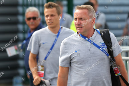 England Under 20 Manager, Paul Simpson arrives at the ground ahead of kick-off during England Under-20 vs Portugal Under-19, Tournoi Maurice Revello Football at Stade d'Honneur Marcel Roustan on 4th June 2019