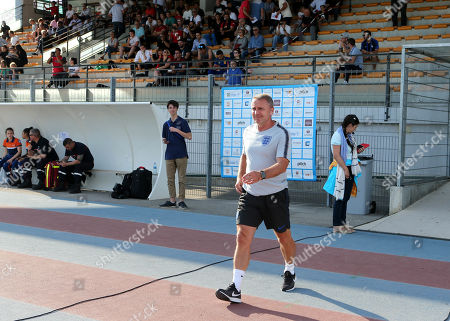 England Head Coach, Paul Simpson during England Under-20 vs Portugal Under-19, Tournoi Maurice Revello Football at Stade d'Honneur Marcel Roustan on 4th June 2019