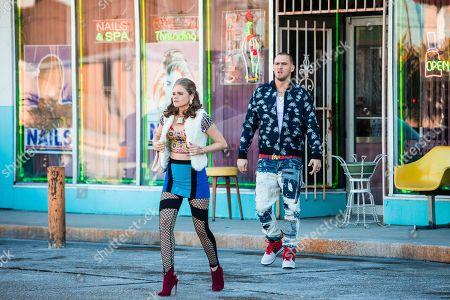 Katherine Reis as Olga and Jack Kesy as Roller Husser