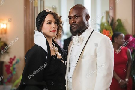 Stock Image of Franka Potente as Zlata and Jimmy Jean-Louis as Dr. Gregory Ruval