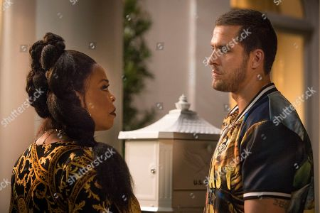 Niecy Nash as Desna Simms and Jack Kesy as Roller Husser