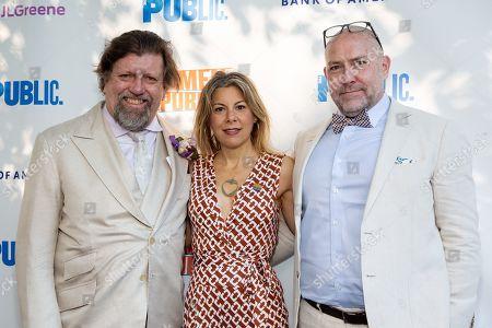 Oskar Eustis, Arielle Tepper and Patrick Willingham