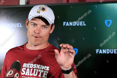 Kevin OConnell. Washington Redskins offensive coordinator Kevin O'Connell speaks to reporters following an NFL football minicamp at Redskins Park in Ashburn, Va